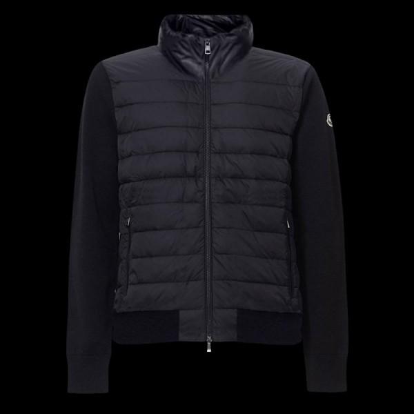Moncler Zipped Sweatshirt Siyah Erkek