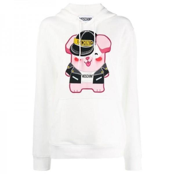 Moschino Graphic Sweatshirt Kadın Beyaz