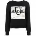 Moschino Logo Sweatshirt Siyah Kadın