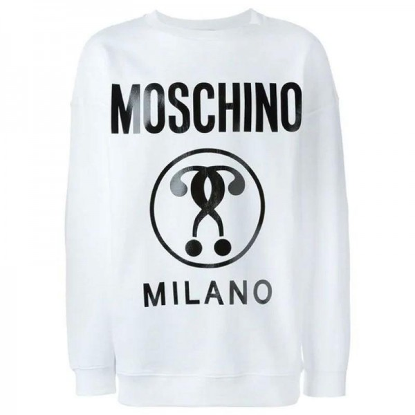 Moschino Milano Sweatshirt Beyaz Erkek