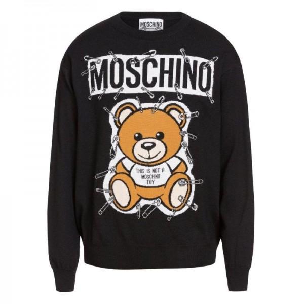 Moschino Teddy Kazak Siyah Erkek