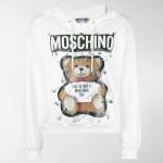 Moschino Teddy Sweatshirt Beyaz Kadın