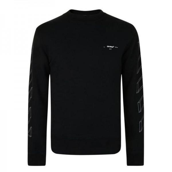 Off White 3D Sweatshirt Siyah Erkek