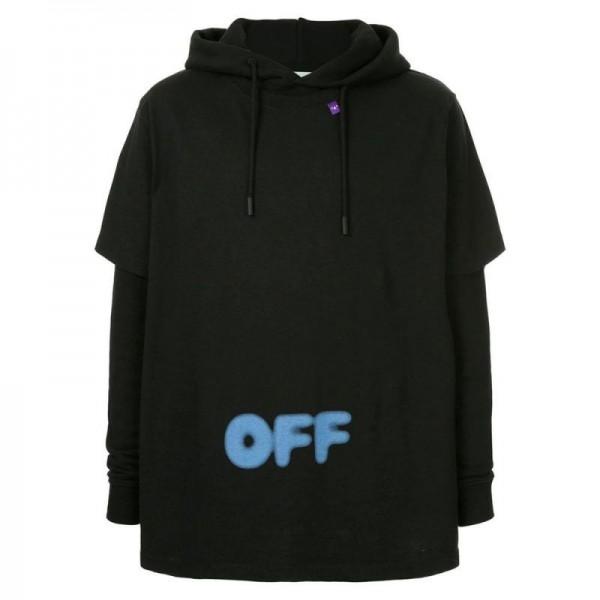 Off White Blurred Sweatshirt Siyah Erkek