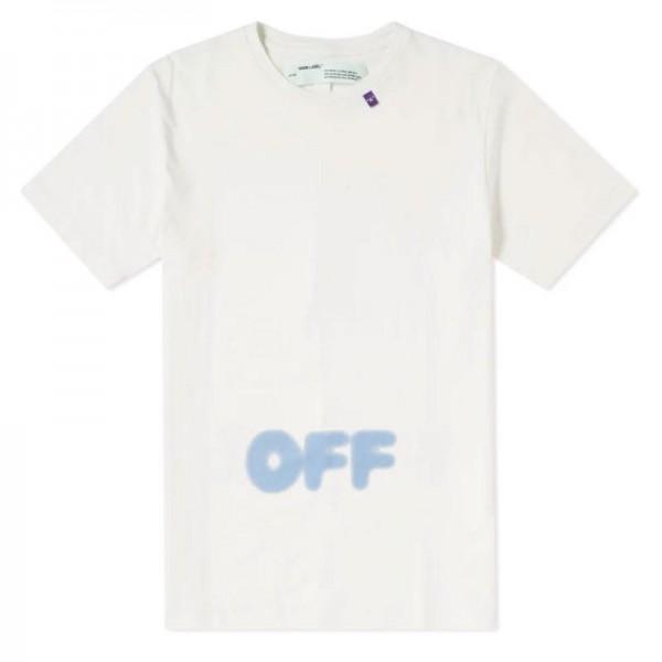Off White Blurred Tişört Beyaz Erkek