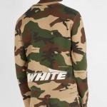 Off White Camouflage Sweatshirt Kamuflaj Erkek