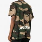 Off White Camouflage Tişört Yeşil Erkek