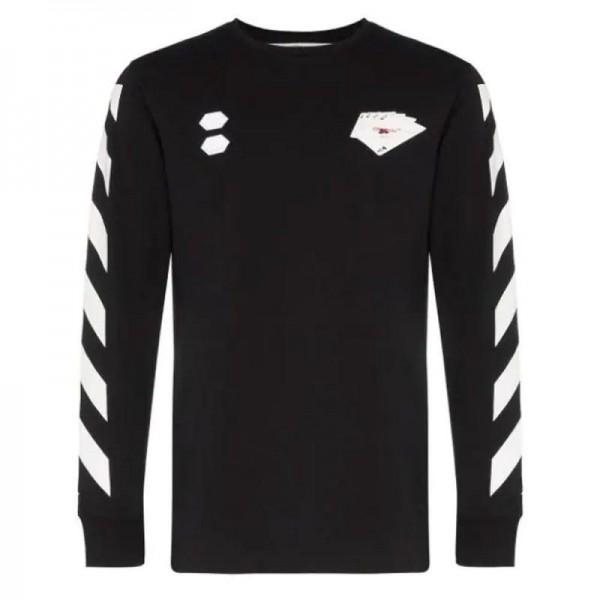 Off White Card Sweatshirt Erkek Siyah