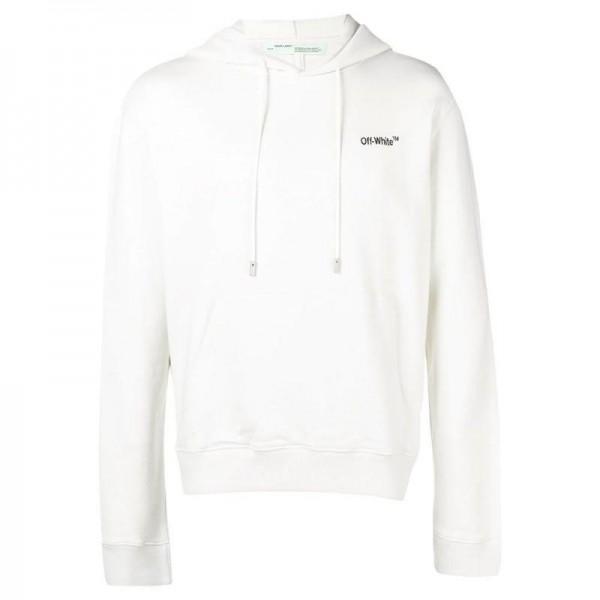 Off White Contrast Sweatshirt Beyaz Erkek