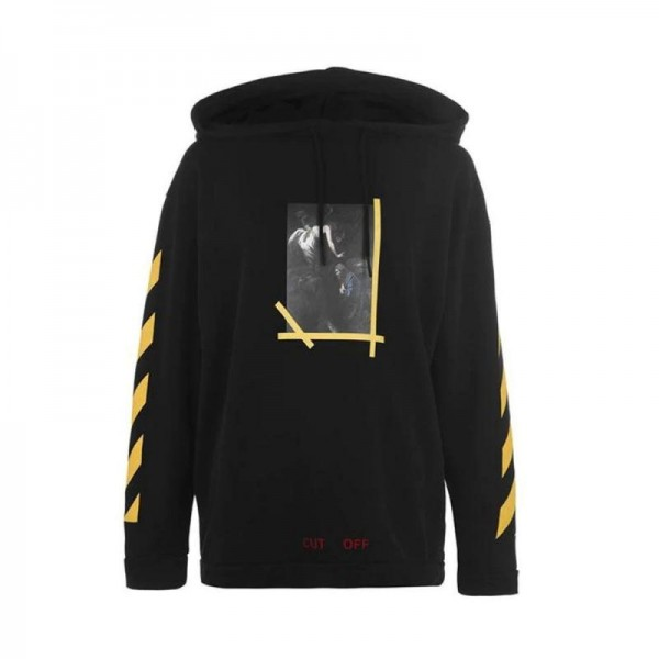 Off White Cross Arrow Sweatshirt Erkek Siyah