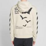 Off White Diagonal Sweatshirt Erkek Beyaz
