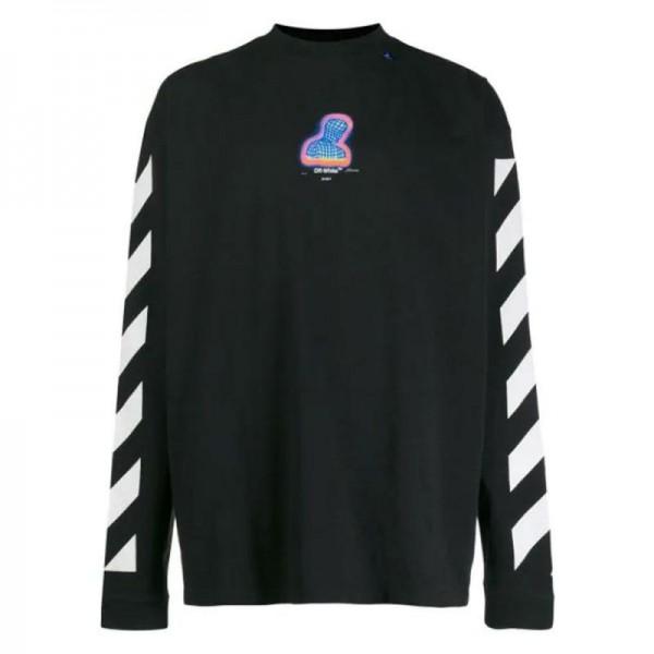 Off White Diagonal Sweatshirt Erkek Siyah