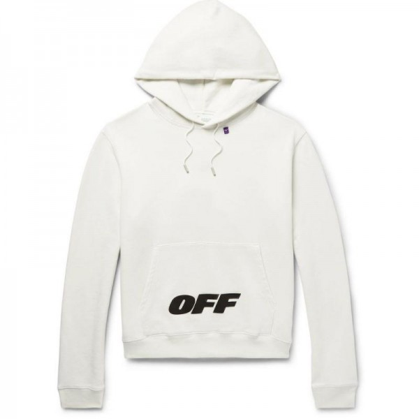 Off White Fleece Sweatshirt Beyaz Erkek