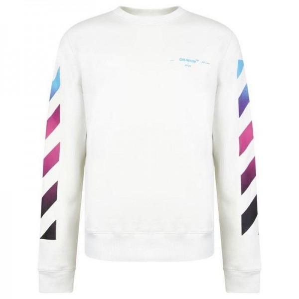 Off White Gradient Sweatshirt Beyaz Erkek