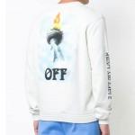 Off White Liberty Sweatshirt Beyaz Erkek