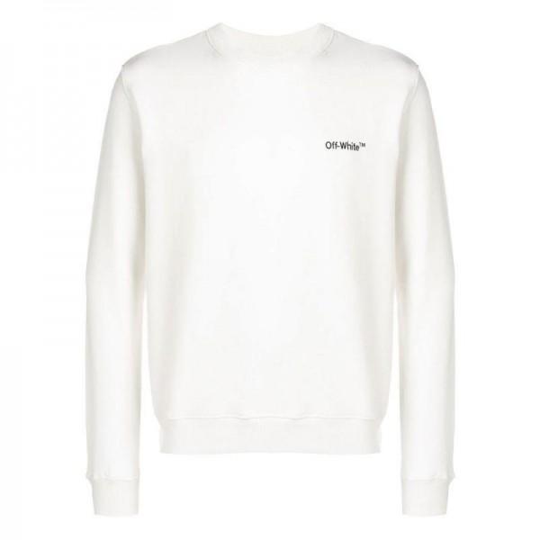 Off White Logo Sweatshirt Beyaz Erkek