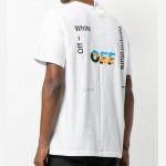 Off White Logo Tişört Beyaz Erkek