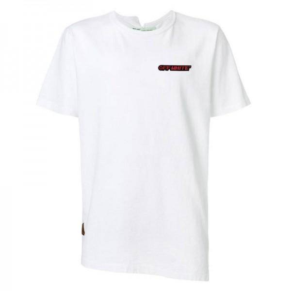 Off White Logo Tişört Erkek Beyaz