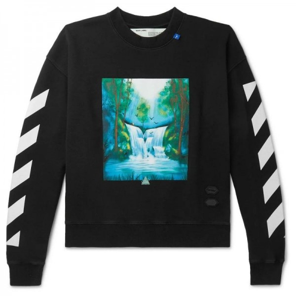 Off White Loopback Sweatshirt Erkek Siyah