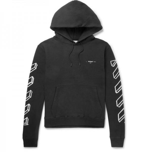 Off White Loopback Sweatshirt Siyah Erkek