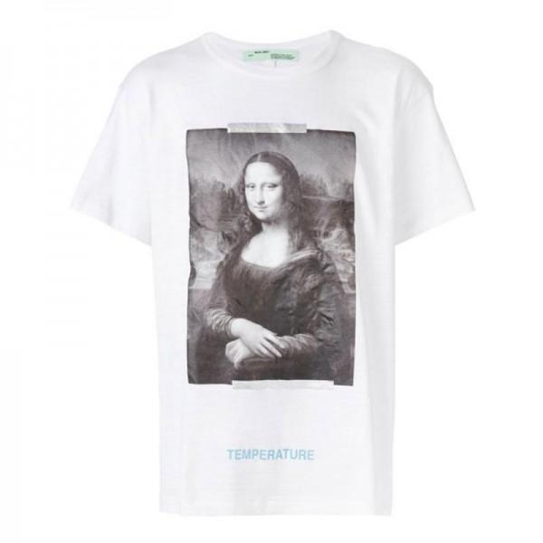 Off White Mona Lisa Tişört Beyaz Erkek