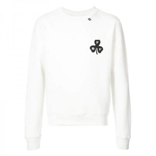 Off White Spray Sweatshirt Beyaz Erkek