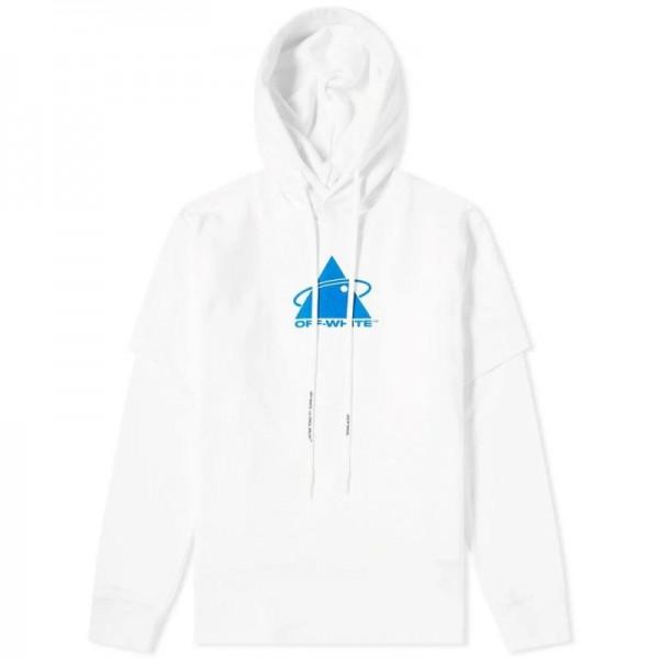 Off White Triangle Sweatshirt Erkek Beyaz