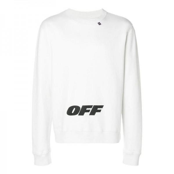 Off White Wingoff Sweatshirt Beyaz Erkek