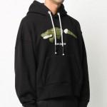 Palm Angels Crocodile Sweatshirt Siyah