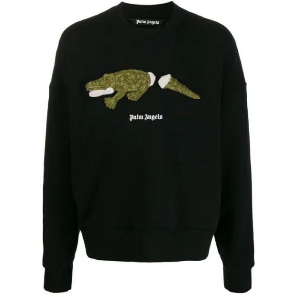 Palm Angels Crocodile Sweatshirt Siyah