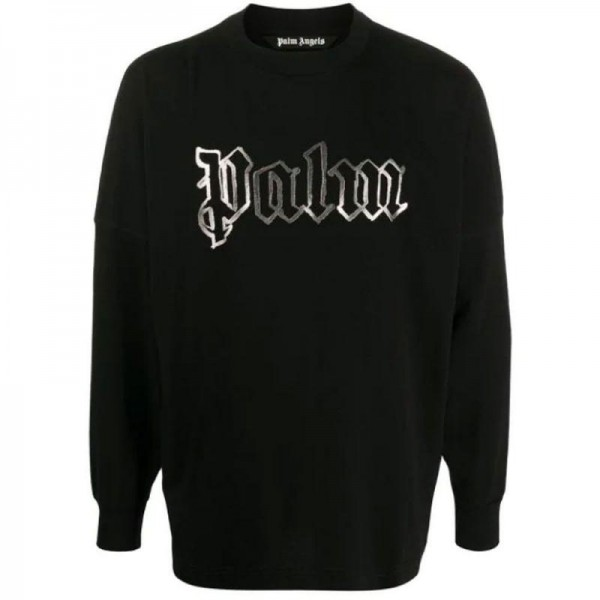 Palm Angels Logo Sweatshirt Siyah