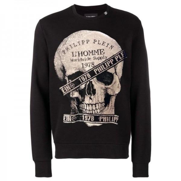 Philipp Plein 1978 Sweatshirt Erkek Siyah