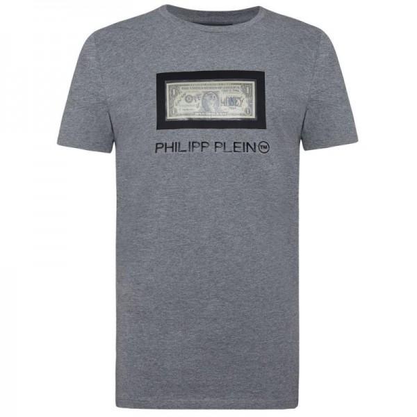 Philipp Plein Dollar Tişört Erkek Gri