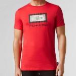 Philipp Plein Dollar Tişört Erkek Kırmızı