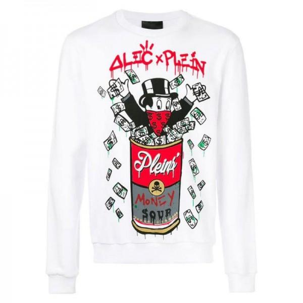 Philipp Plein Monopoly Sweatshirt Beyaz Erkek