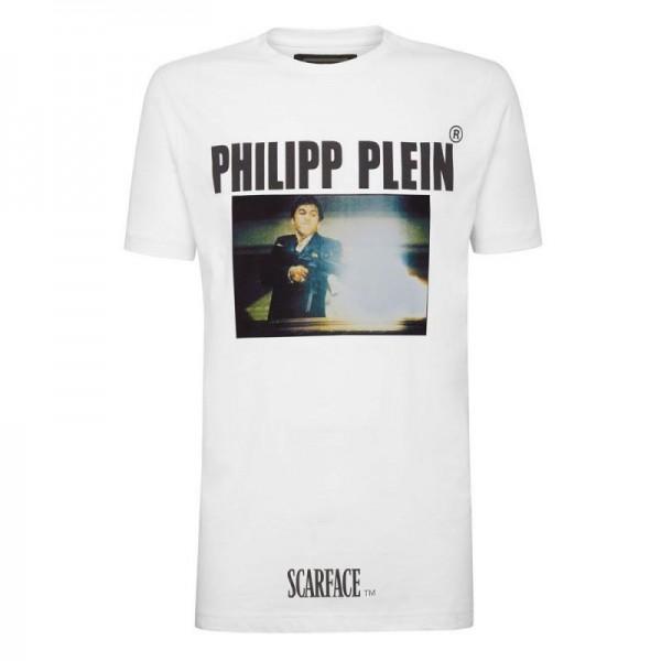 Philipp Plein Scarface Tişört Erkek Beyaz