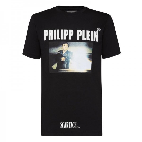 Philipp Plein Scarface Tişört Erkek Siyah