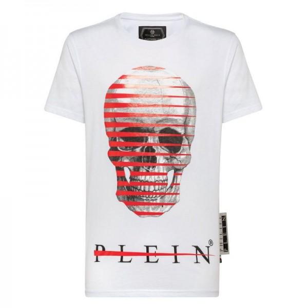 Philipp Plein Skull Tişört Erkek Beyaz