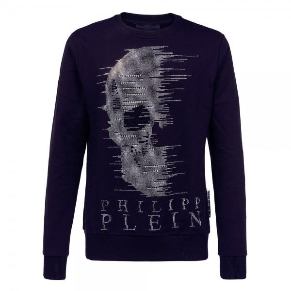 Philipp Plein Skull Sweatshirt Lacivert Erkek