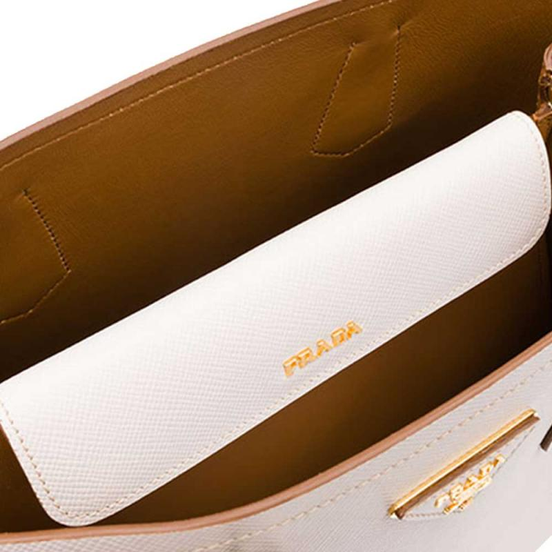 fbdf2a38d260e Prada Double Bag Çanta Beyaz Kadın - Outlet Azpara
