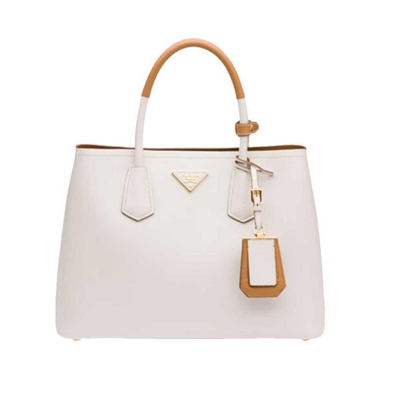 2a3710e5292435 Prada Double Bag Çanta Beyaz Kadın - Outlet Azpara