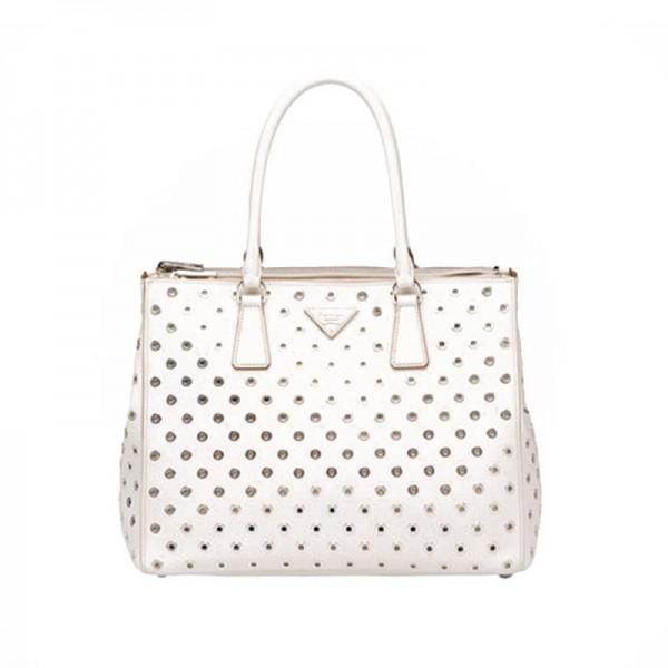 Prada Galleria Bag Çanta Beyaz Kadın