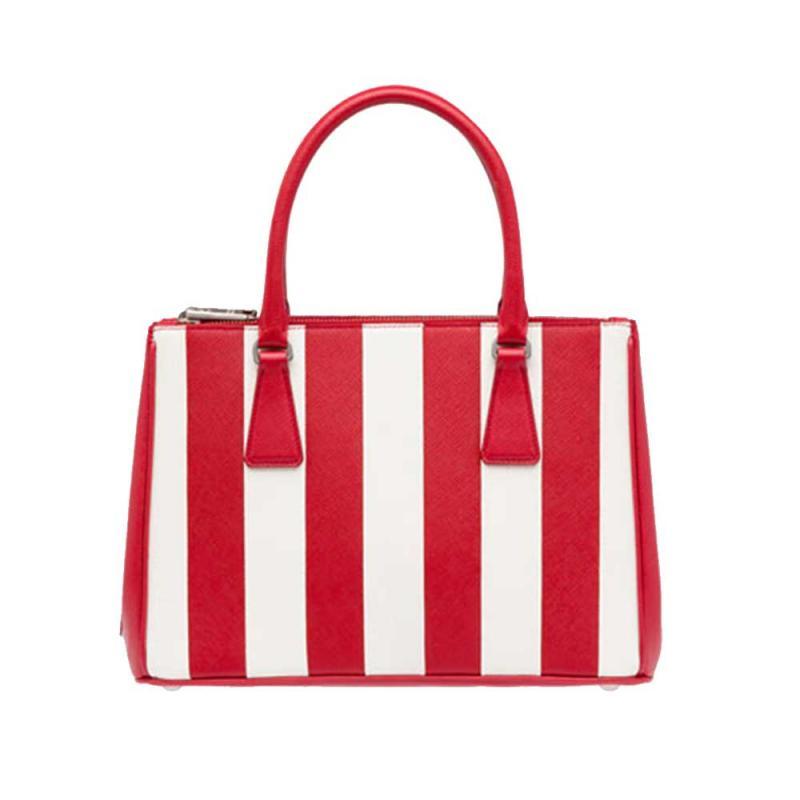 4357d8a1092a0 Prada Galleria Bag Çanta Kırmızı Kadın - Outlet Azpara