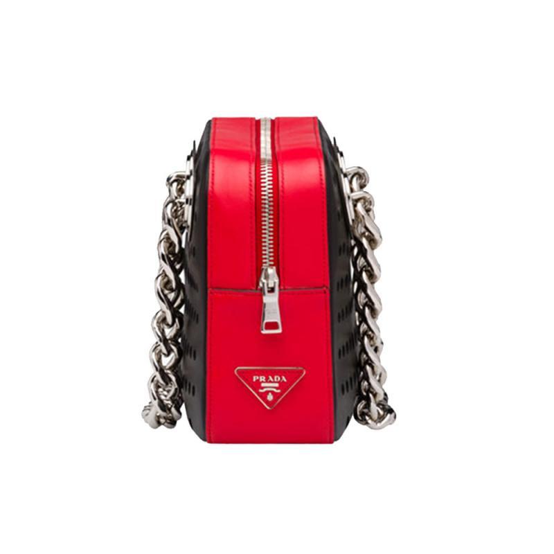 f6cbc2f815359 Prada Top Handle Bag Çanta Kırmızı Kadın - Outlet Azpara