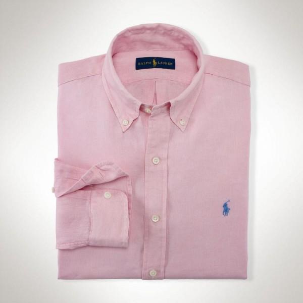 Ralph Lauren Gömlek Foster Pink Erkek