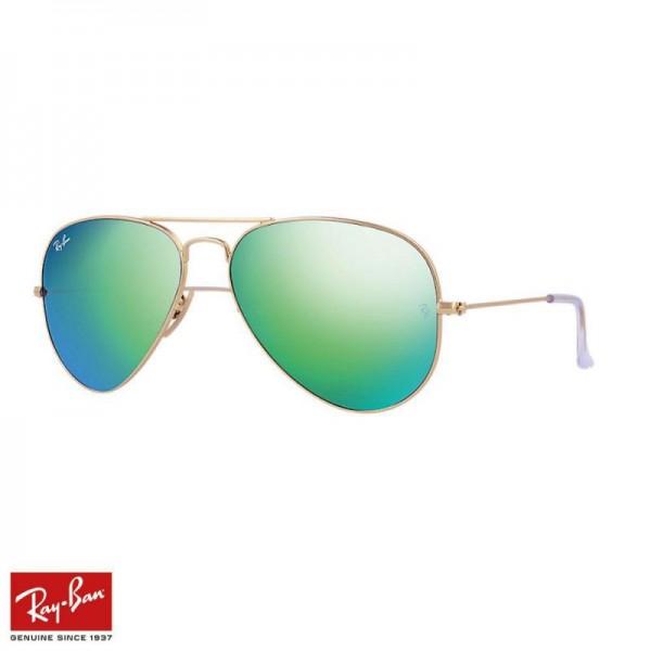 Rayban Aviator Flash Gözlük Flash Yeşil Altın Güneş Gözlüğü