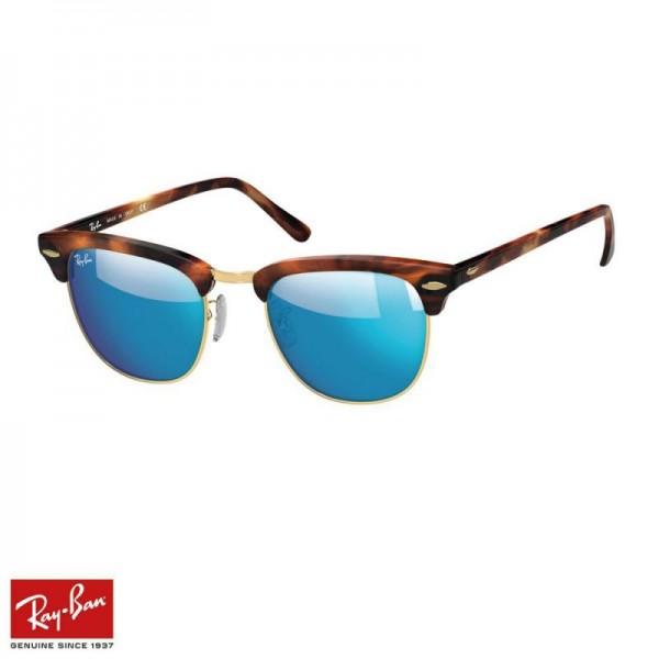 Rayban Clubmaster Flash Gözlük Flash Mavi Tortoise Güneş Gözlüğü