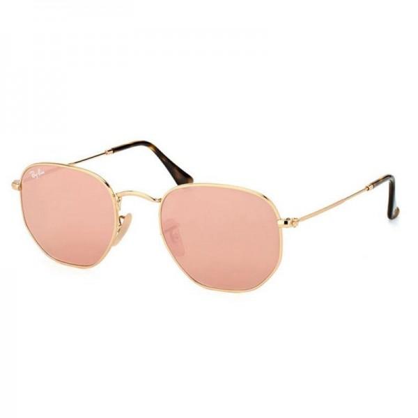 Rayban Hexagonal Gözlük Altın Pembe Güneş Gözlüğü