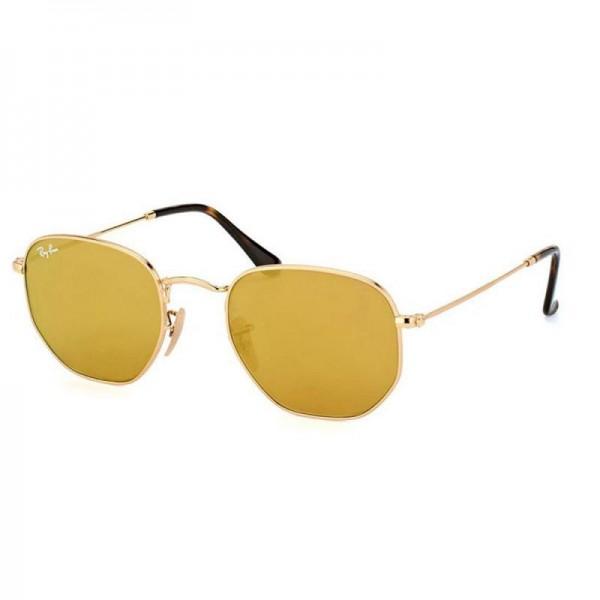 Rayban Hexagonal Gözlük Altın Sarı Güneş Gözlüğü