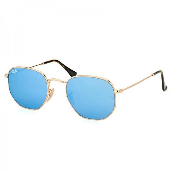 Rayban Hexagonal Gözlük Altın Turkuaz Güneş Gözlüğü